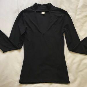 H&M Front Cutout Shirt